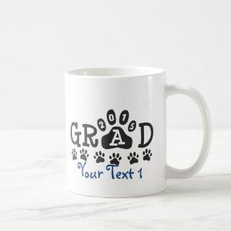 Personalized GRAD 2015 PAWS BLUE Graduation Coffee Mug