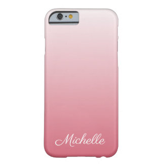 Personalized gradient ombre salmon pink barely there iPhone 6 case