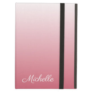 Personalized gradient ombre salmon pink cover for iPad air