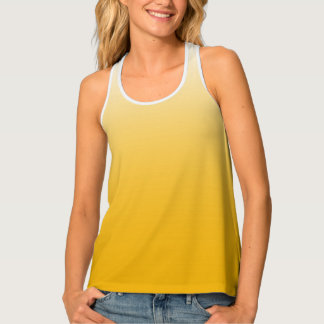 Personalized gradient ombre yellow singlet