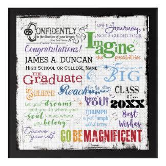 Personalized Graduation Inspirational Keepsake Acrylic Print