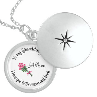 Personalized Granddaughter Locket Necklace