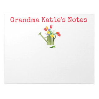 personalized grandma flower pot notes
