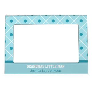 Personalized: Grandmas Little Man: Magnetic Frame