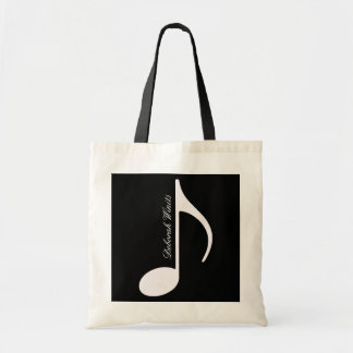 personalized graphic musical note budget tote bag