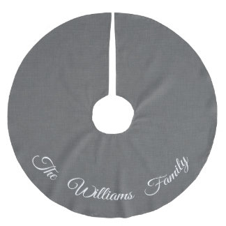 Personalized Gray and White Tree Skirt