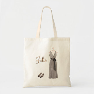 Personalized Gray Bridesmaid Tote