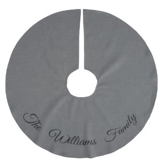 Personalized Gray Tree Skirt