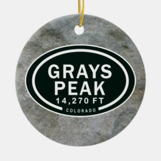 Personalized Grays Peak CO Mountain Ornament