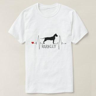 Personalized Great Dane Love My Dog Heart Beat T-Shirt