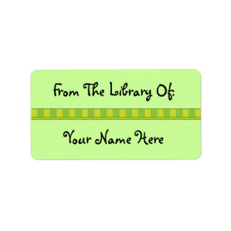 Personalized Green Bookplate Library Stickers