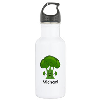 Personalized Green Broccoli 532 Ml Water Bottle