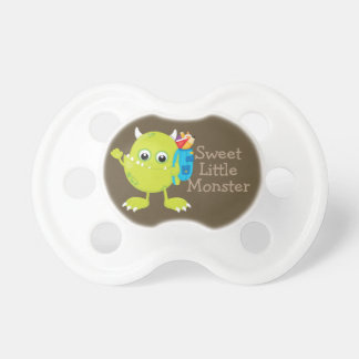 Personalized Green Brown  Sweet Little Monster Dummy