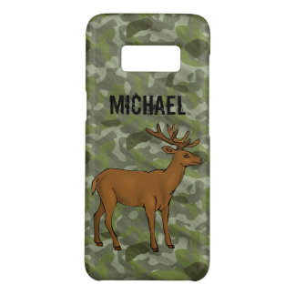 Personalized Green Camo Deer Antlers Hunting Case-Mate Samsung Galaxy S8 Case