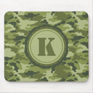 Personalized Green Camo Pattern Mousepads