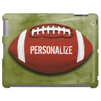 Personalized Green Grunge Football