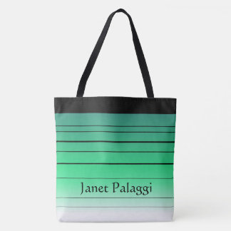Personalized Green Ombre Custom Tote Bag