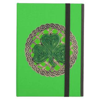 Personalized Green Shamrock Celtic Knots iPad Case