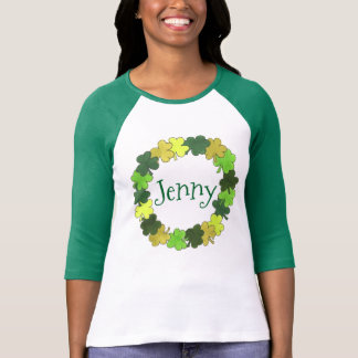 Personalized Green Shamrock St. Patrick's Day Tee