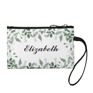 Personalized Greenery Cosmetic Bag