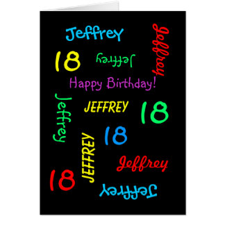 Personalized Greeting Card, 18th Birthday Card