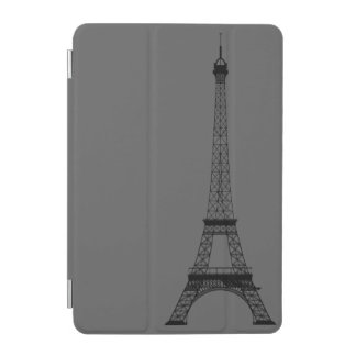 Personalized Grey Black Eiffel Tower iPad Mini Cover