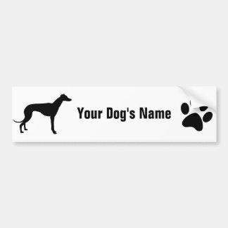 Personalized Greyhound グレイハウンド Bumper Sticker