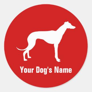 Personalized Greyhound グレイハウンド Classic Round Sticker
