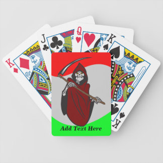 Personalized Grim Reaper Skeleton Playing Cards