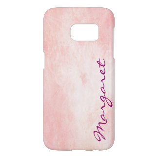 Personalized Gritty Pink Watercolor