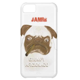 Personalized Grumpy AFICIONADO Puggy Cigar iPhone 5C Case