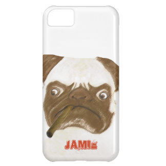 Personalized Grumpy Puggy with Cigar iPhone 5C Case