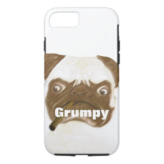 Personalized Grumpy Puggy with Cigar iPhone 7 Case