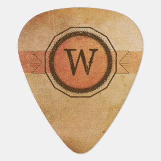 Personalized Grunge Medallion Guitar Pick