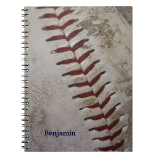 Personalized Grungy Dirty Baseball Spiral Notepad Notebook