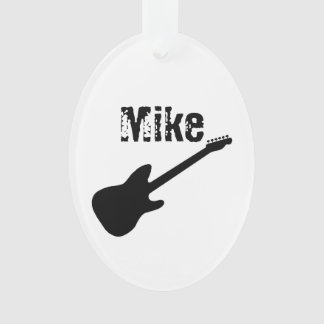 Personalized Guitar Ornament
