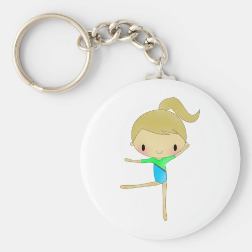 Personalized Gymnastics accessories Key Chain