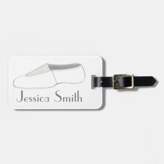 Personalized Gymnastics Acro Shoe Dance Bag Tag
