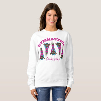 Personalized GYMNASTICS Gym Teacher Tumbling Coach Sweatshirt