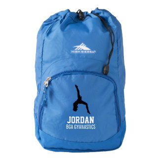 Personalized Gymnastics Gymnast & Team/Club Name Backpack