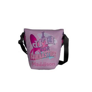 Personalized Gymnastics Messenger Bags