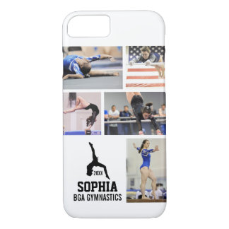 Personalized Gymnastics Photo Collage Name Year iPhone 8/7 Case