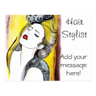 Personalized Hair Stylist Postcard