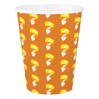 Personalized Halloween candy corn orange yellow Paper Cup