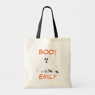 Personalized Halloween Ghost Tote Budget Tote Bag