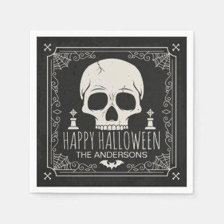 Personalized Halloween Party   Napkin Paper Napkin