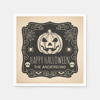 Personalized Halloween Party   Napkin Paper Napkins