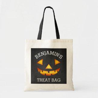 Personalized Halloween Pumpkin Treat