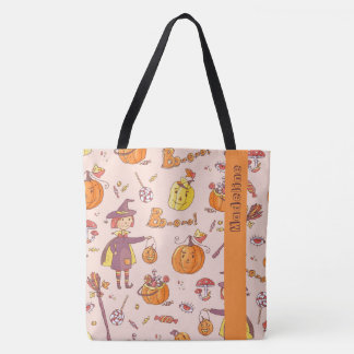 Personalized Halloween Trick or Treat Candy Bag
