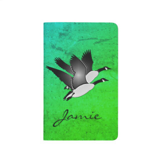 Personalized Handmade Journal - Canadian Geese